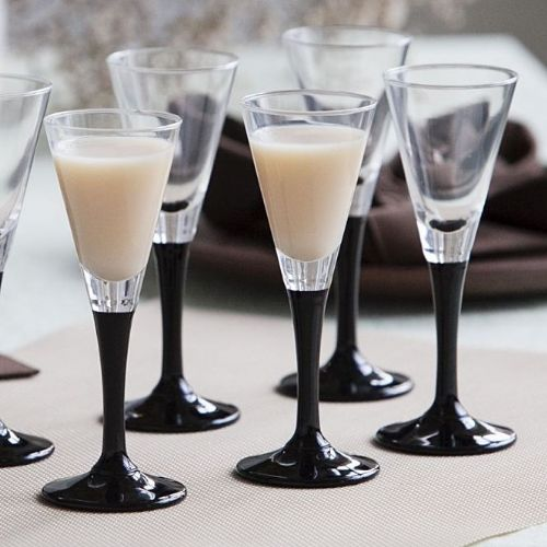 Liqueur Glasses Black Stem 50ml